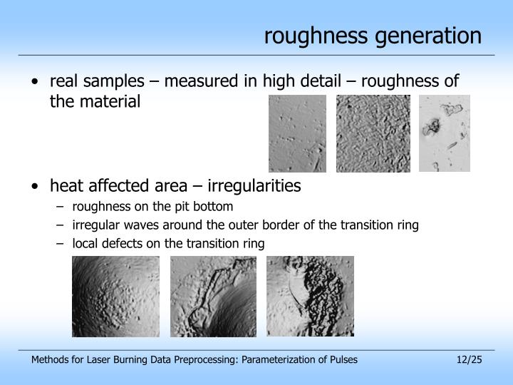 roughness generation