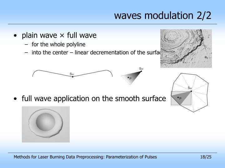 waves modulation 2/2
