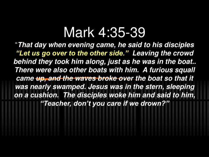 Mark 4:35-39
