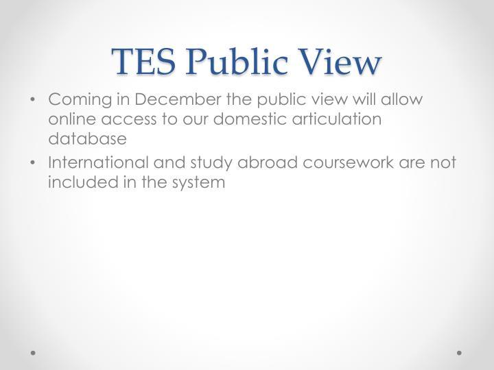 TES Public View