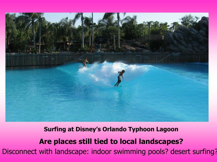 Surfing at Disney's Orlando Typhoon Lagoon