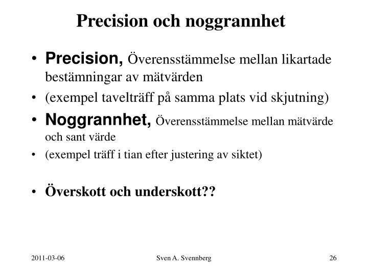 Precision och noggrannhet