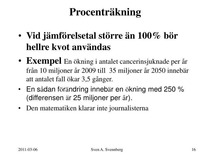 Procenträkning