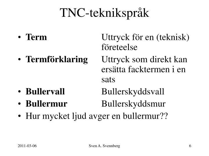 TNC-teknikspråk