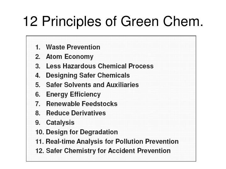 12 Principles of Green Chem.