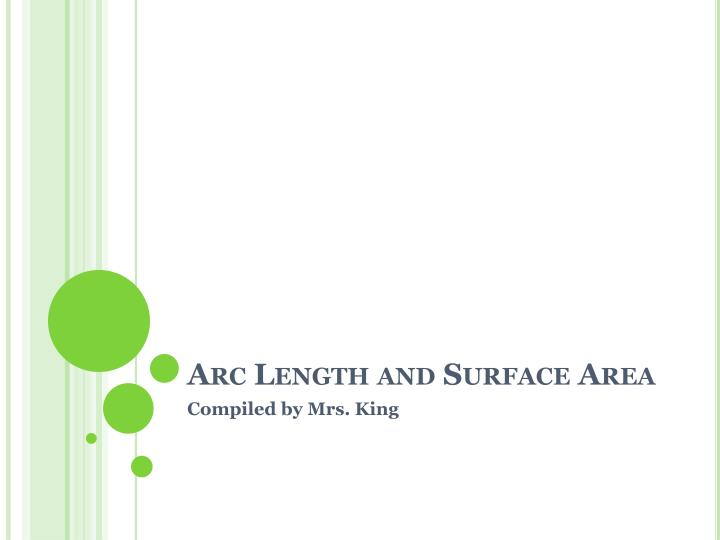 arc length and surface area