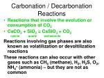 carbonation decarbonation reactions