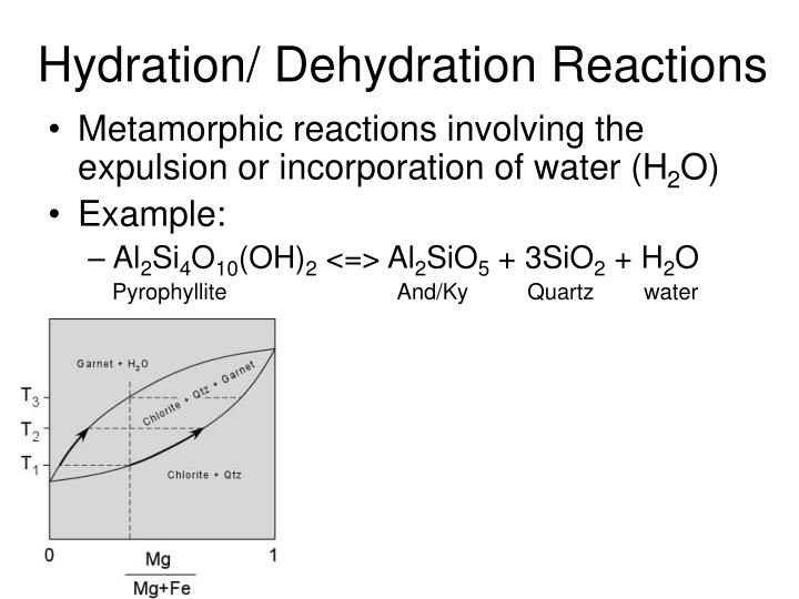 Hydration/ Dehydration Reactions