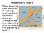 metamorphic facies1
