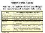metamorphic facies2