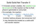 solid solid net transfer ii