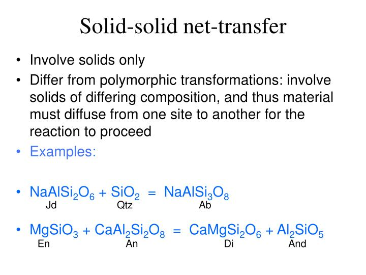 Solid-solid net-transfer
