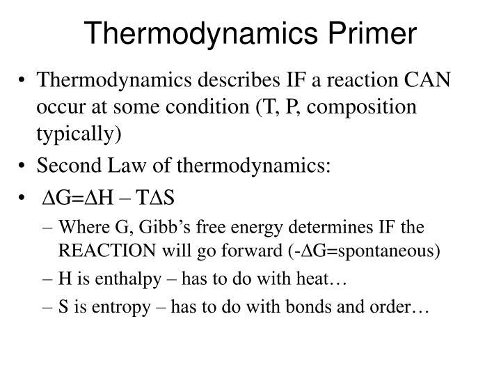 Thermodynamics Primer