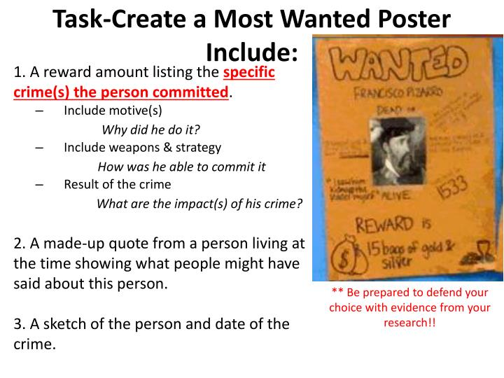 Task-Create a Most Wanted Poster