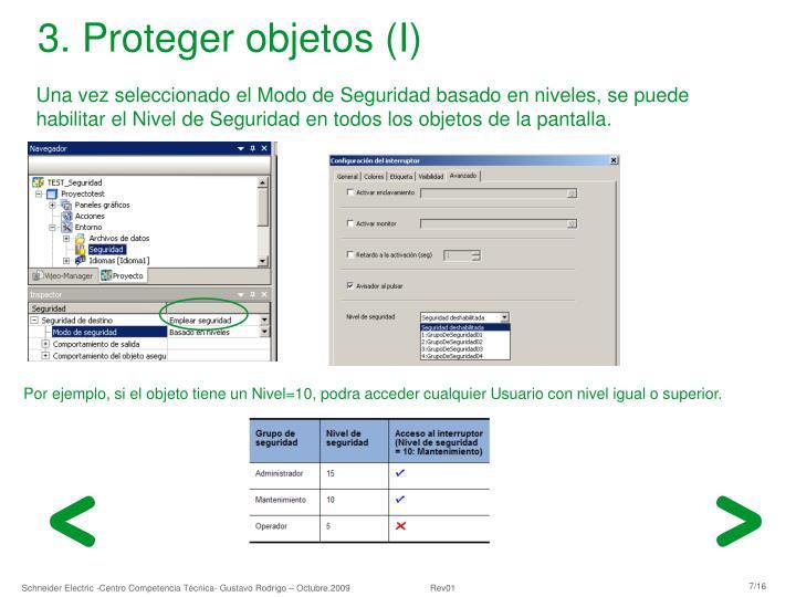 3. Proteger objetos (I)