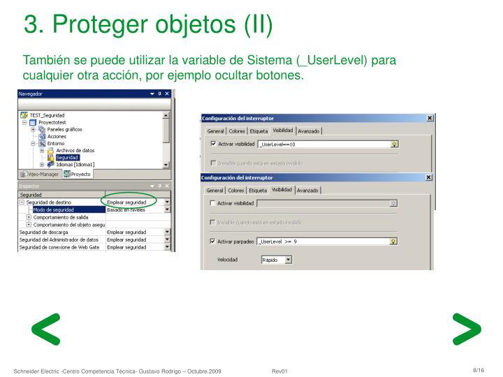 3. Proteger objetos (II)