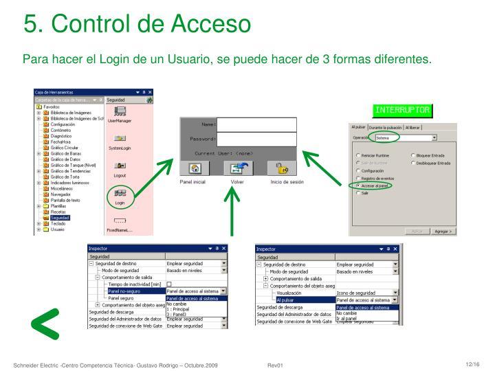 5. Control de Acceso