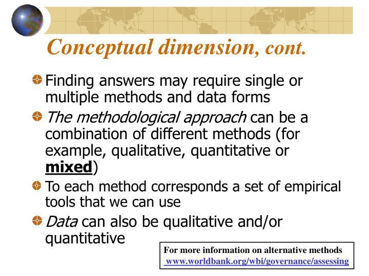 Conceptual dimension