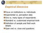 empirical dimension