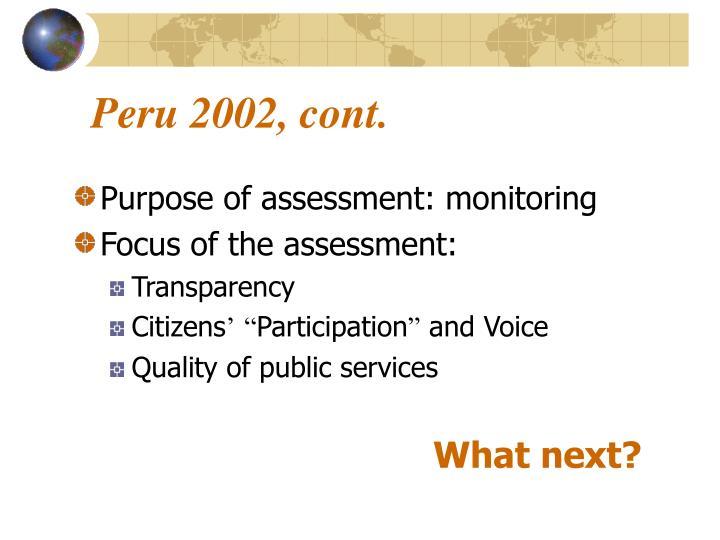 Peru 2002, cont.