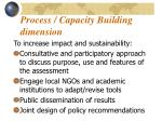 process capacity building dimension