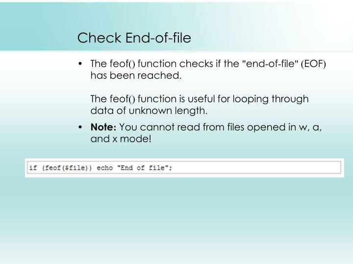 Check End-of-file