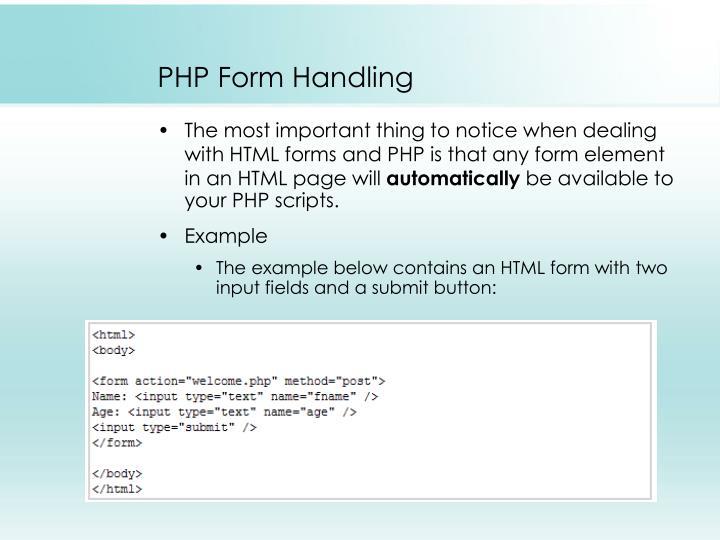 PHP Form Handling
