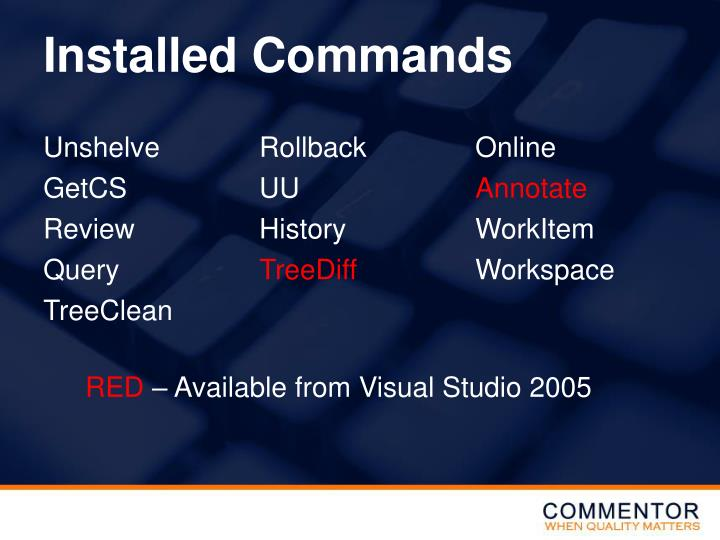 Installed Commands