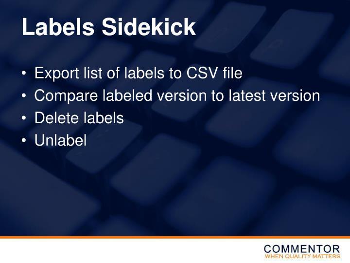 Labels Sidekick