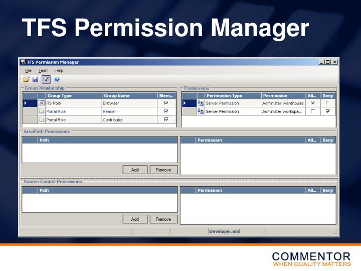 TFS Permission Manager