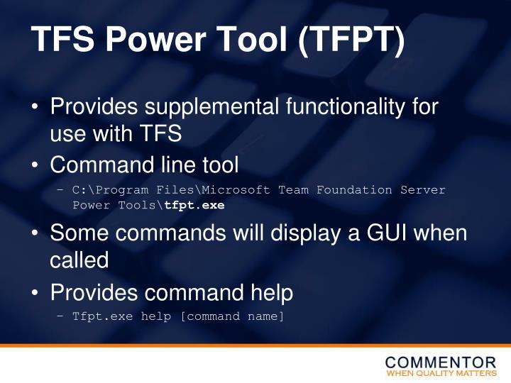 TFS Power Tool (TFPT)