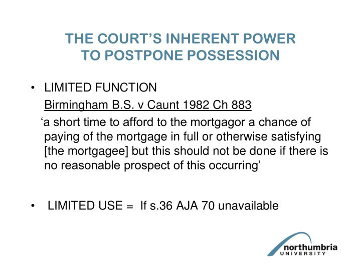 THE COURT'S INHERENT POWER