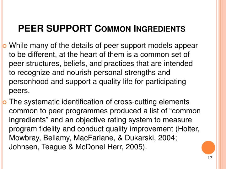 PEER SUPPORT Common