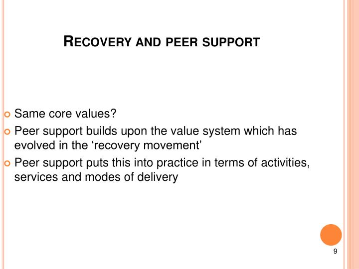 Recovery and