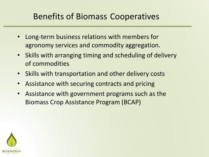 Benefits of Biomass