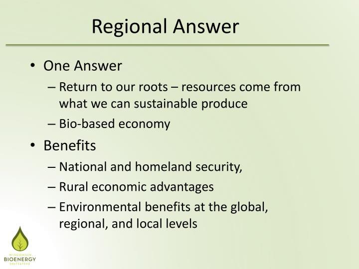 Regional Answer