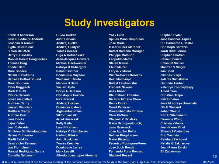 Study Investigators