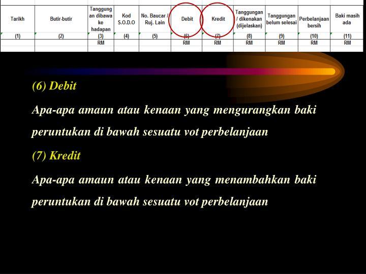 (6) Debit