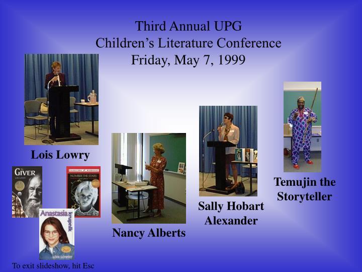 Third Annual UPG