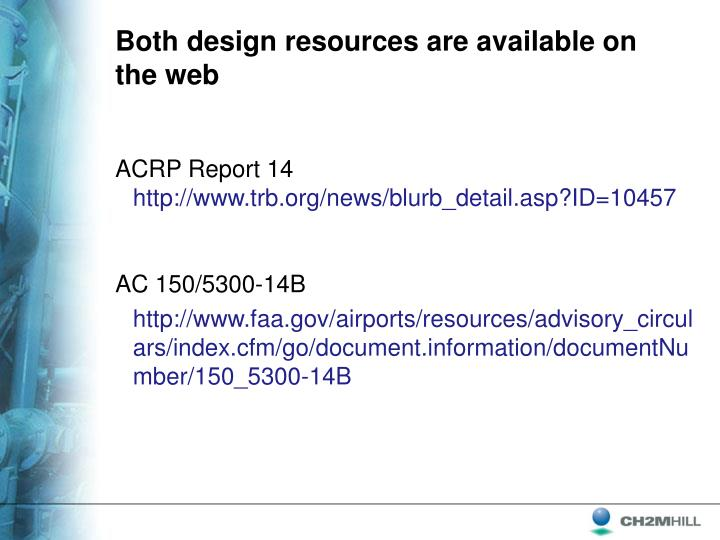 Both design resources are available on the web