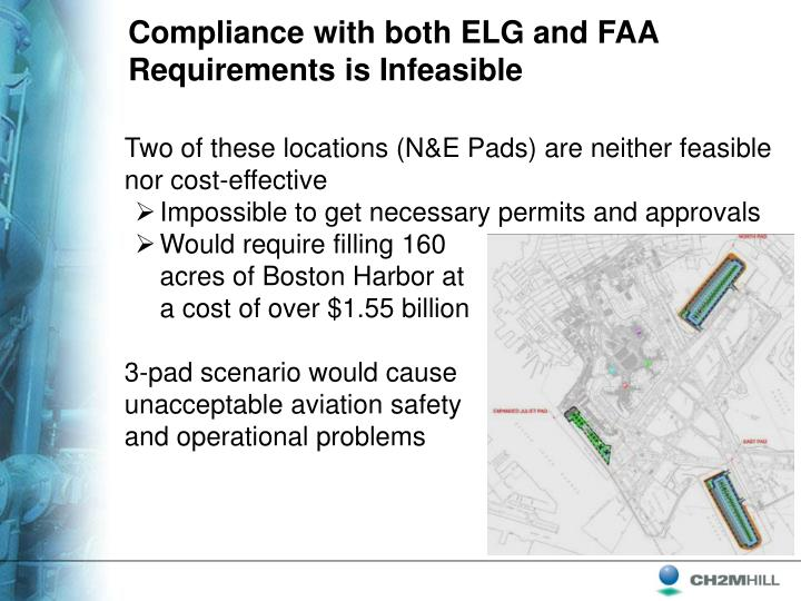 Compliance with both ELG and FAA Requirements is Infeasible