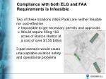 compliance with both elg and faa requirements is infeasible1