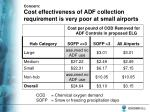 concern cost effectiveness of adf collection requirement is very poor at small airports