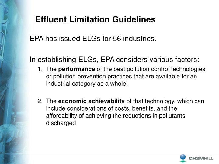 Effluent Limitation Guidelines