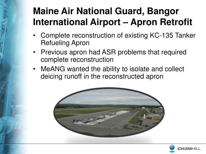 Maine Air National Guard, Bangor International Airport – Apron Retrofit