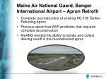 maine air national guard bangor international airport apron retrofit