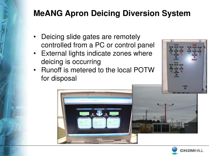 MeANG Apron Deicing Diversion System
