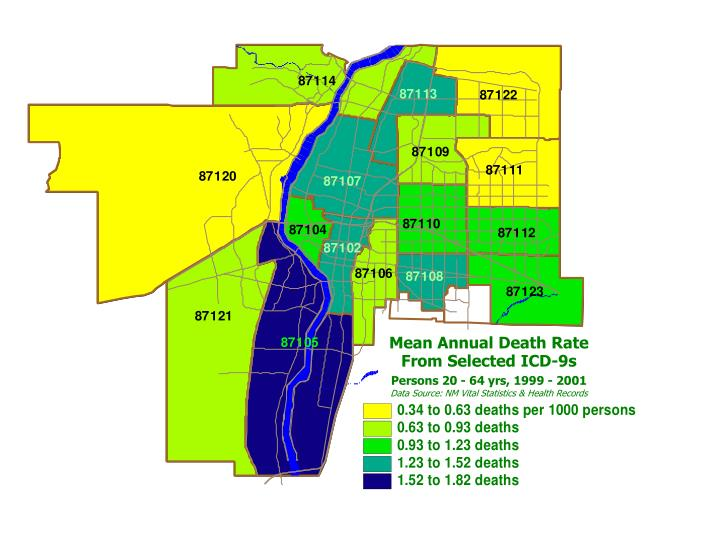 Mean Annual Death Rate