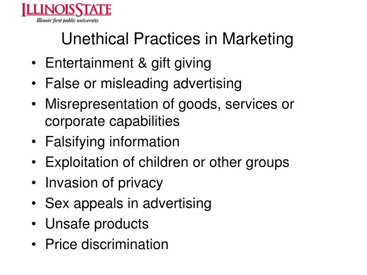 Unethical Practices in Marketing