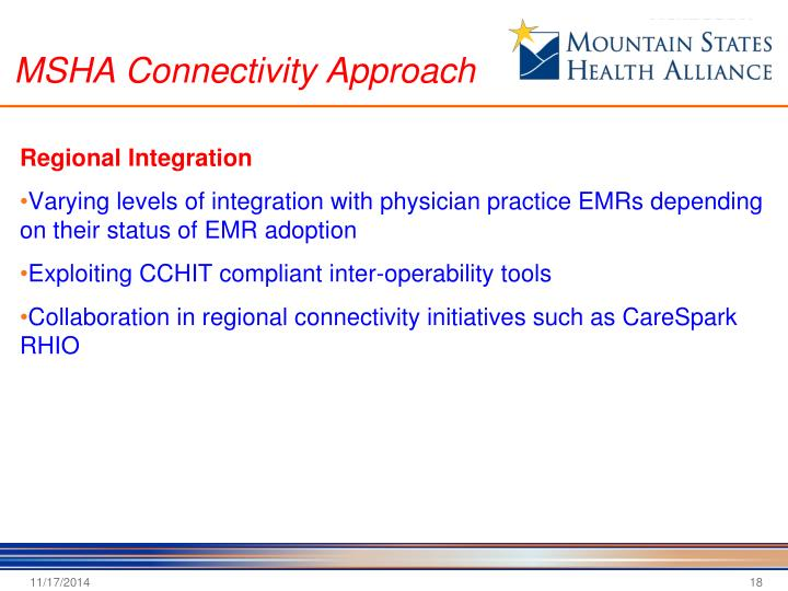 MSHA Connectivity Approach